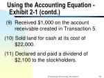 using the accounting equation exhibit 2 1 contd12