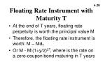 floating rate instrument with maturity t