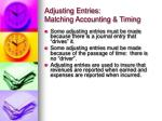 adjusting entries matching accounting timing2