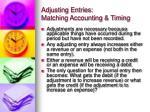 adjusting entries matching accounting timing3