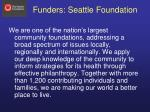 funders seattle foundation
