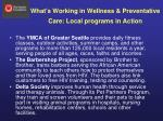 what s working in wellness preventative care local programs in action