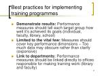 best practices for implementing training programmes