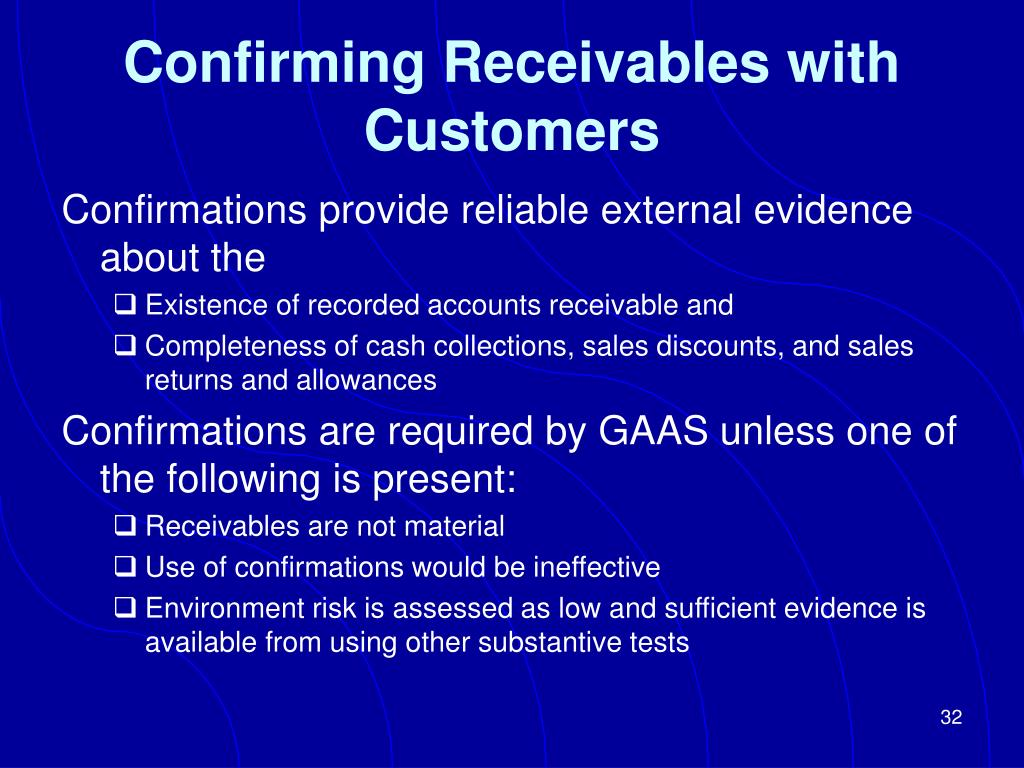 Confirming Receivables with Customers