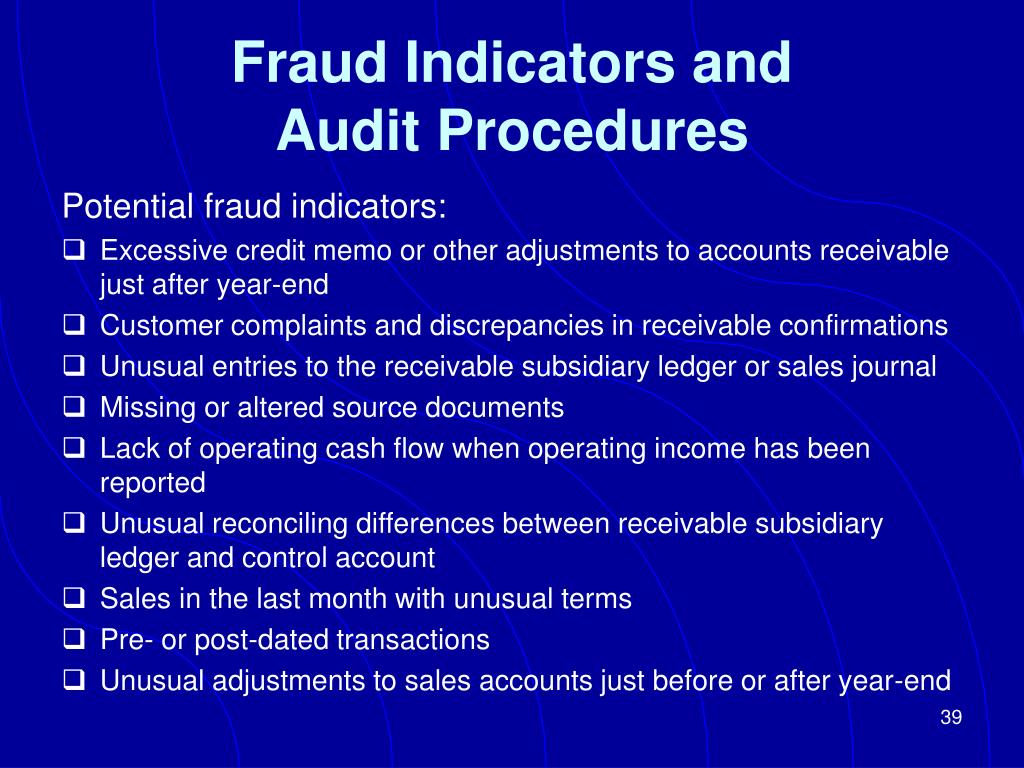 Fraud Indicators and