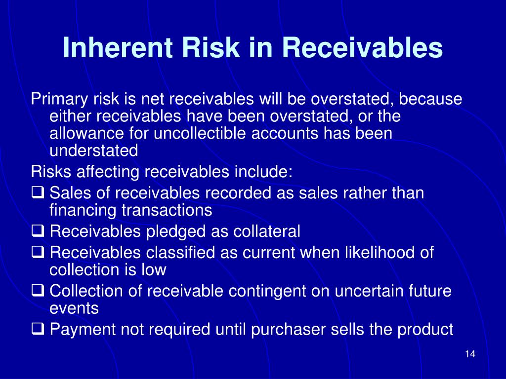 Inherent Risk in Receivables