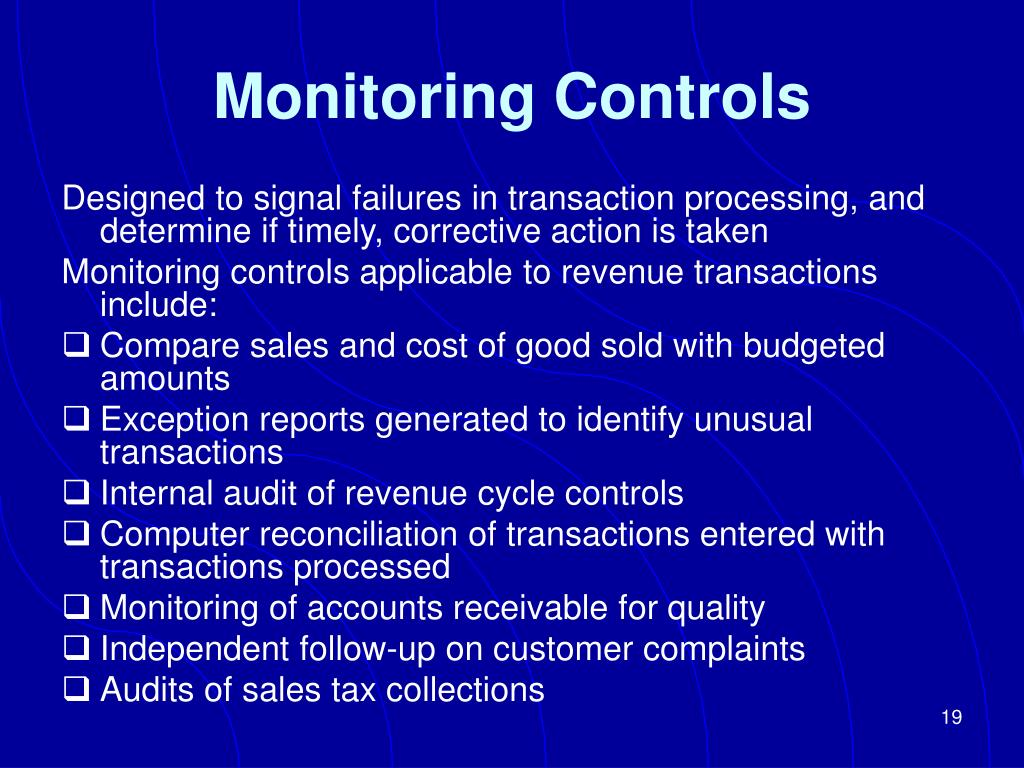 Monitoring Controls