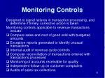 monitoring controls