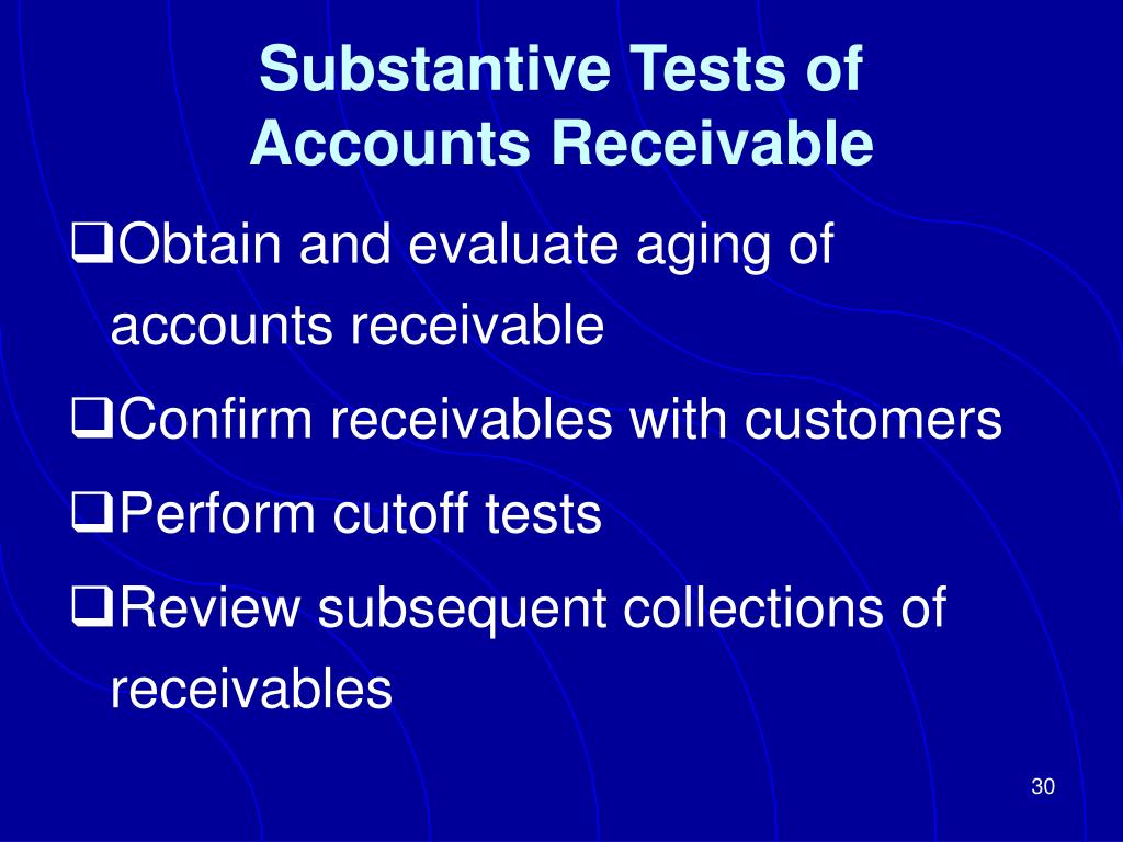 Substantive Tests of
