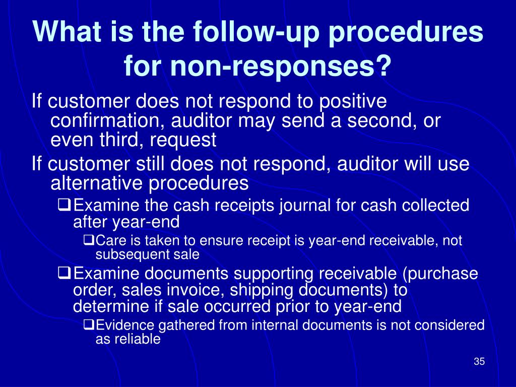 What is the follow-up procedures for non-responses?