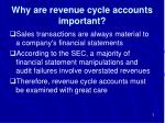 why are revenue cycle accounts important
