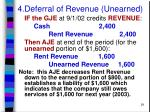 4 deferral of revenue unearned29