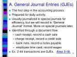a general journal entries gjes