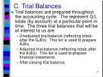 c trial balances