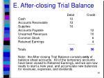 e after closing trial balance