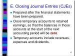 e closing journal entries cjes