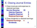 e closing journal entries46