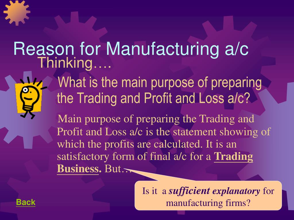Reason for Manufacturing a/c
