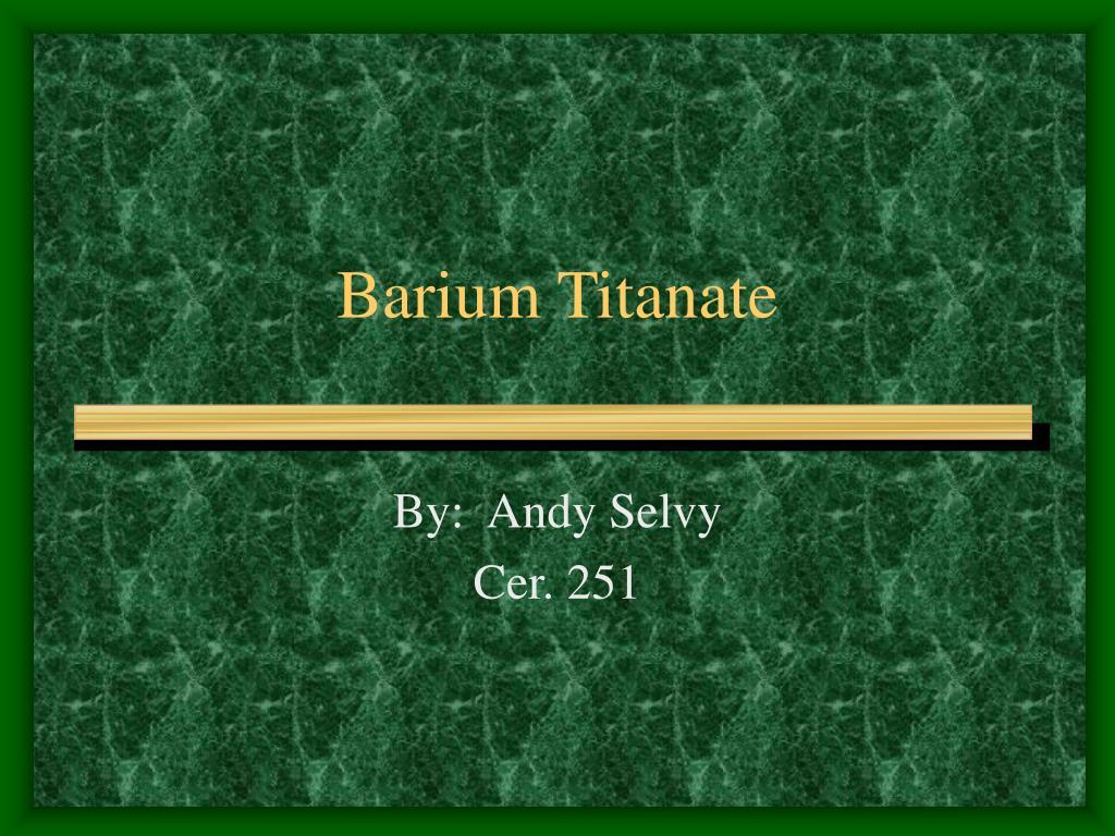 barium titanate l.