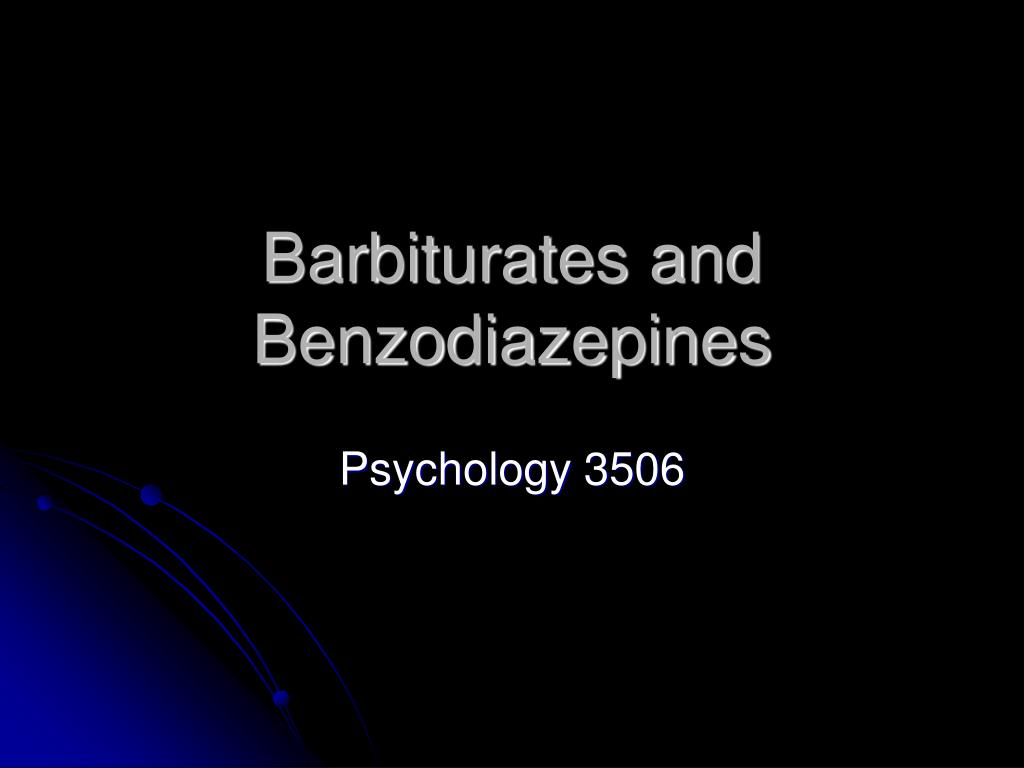 barbiturates and benzodiazepines l.