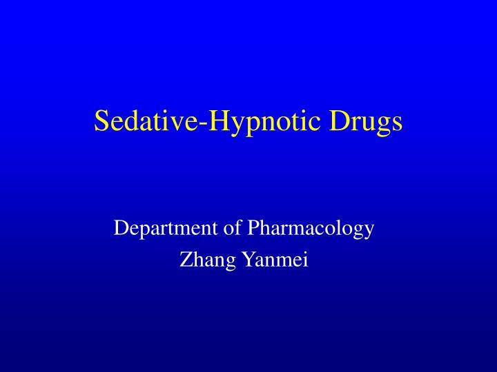 sedative hypnotic drugs n.