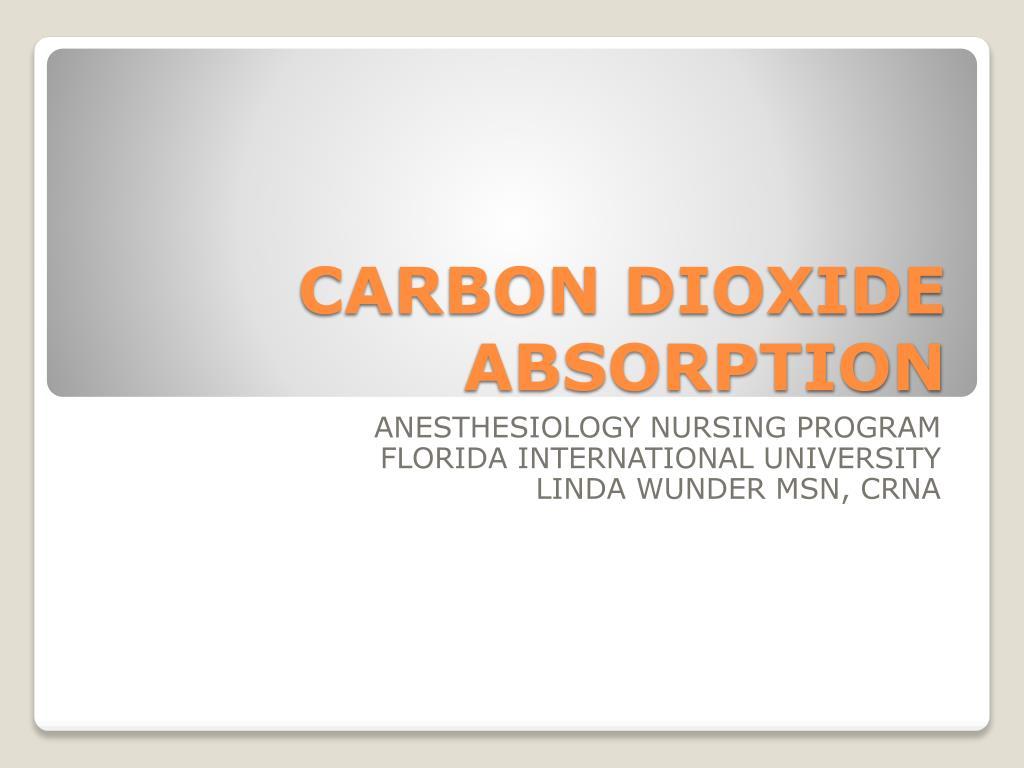 carbon dioxide absorption l.