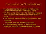 discussion on observations