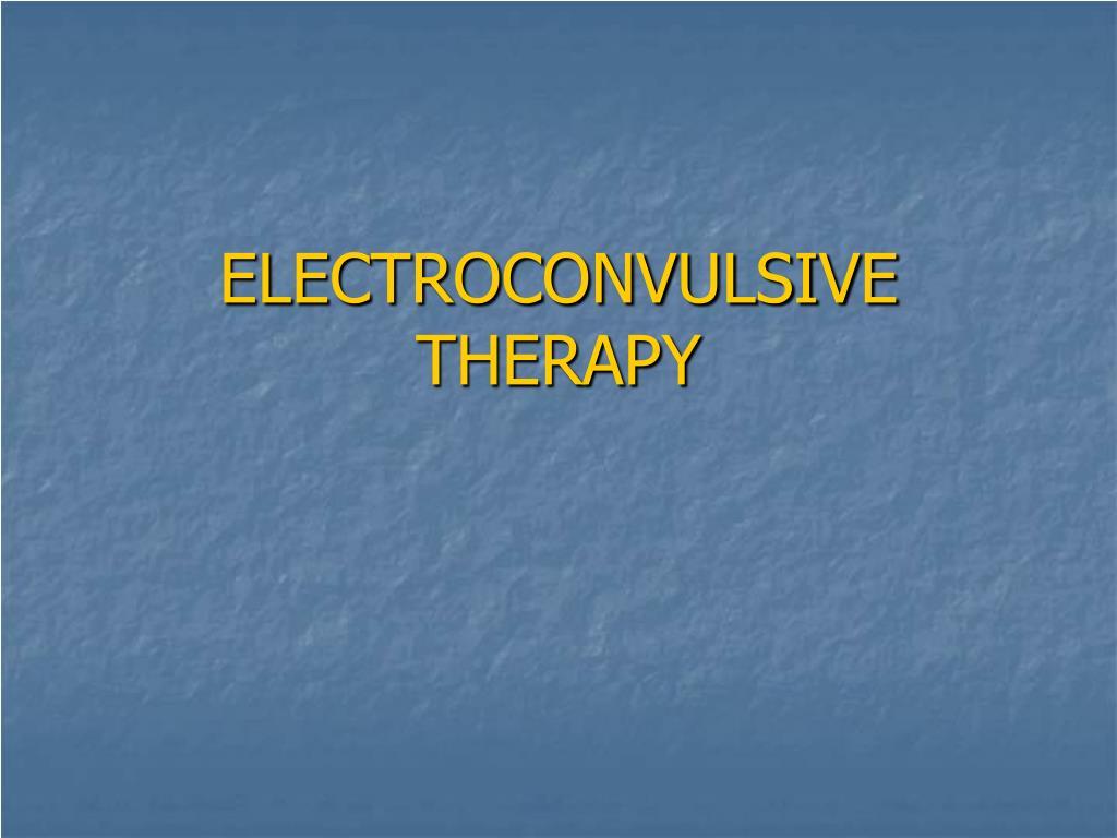 electroconvulsive therapy l.