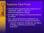 templates ideal forms