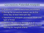 convective potential analysis