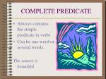 complete predicate