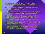 beginning balance accounts