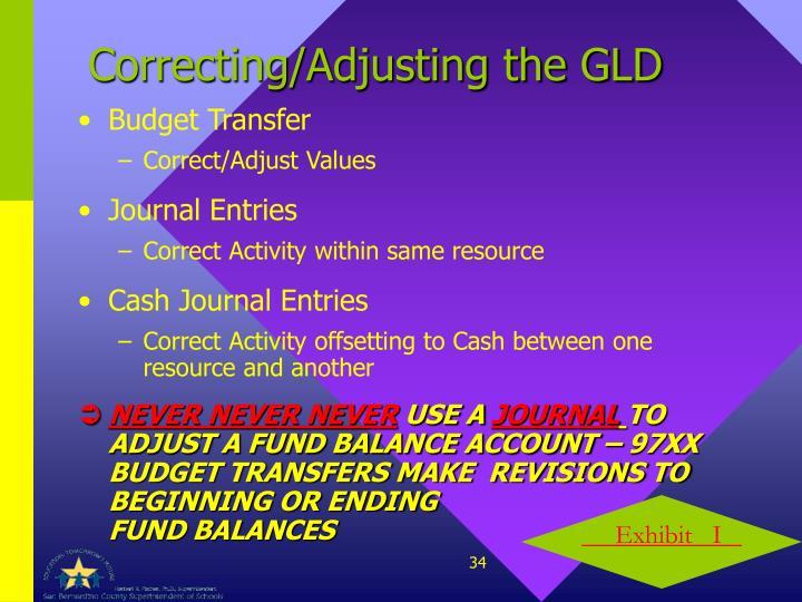 Correcting/Adjusting the GLD