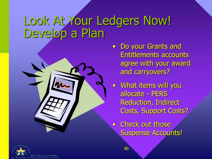 Look At Your Ledgers Now!