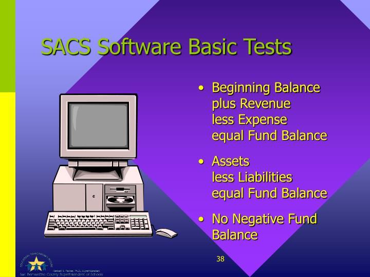 SACS Software Basic Tests