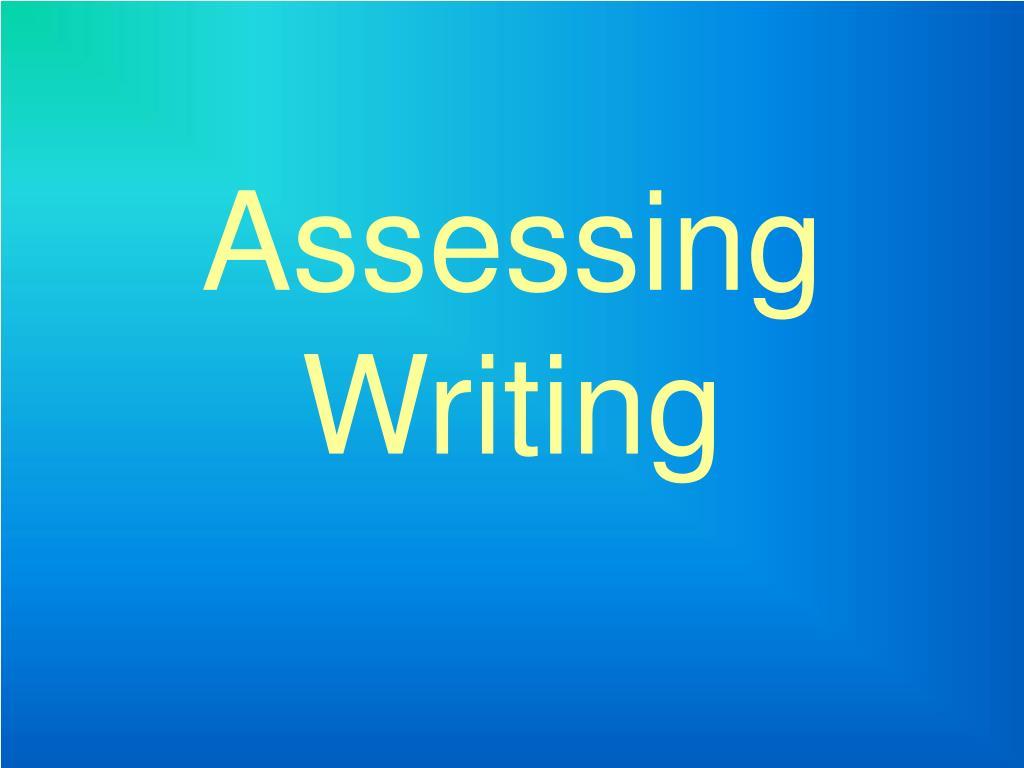 assessing writing l.