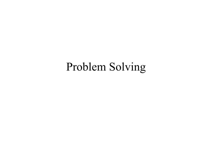 problem solving n.