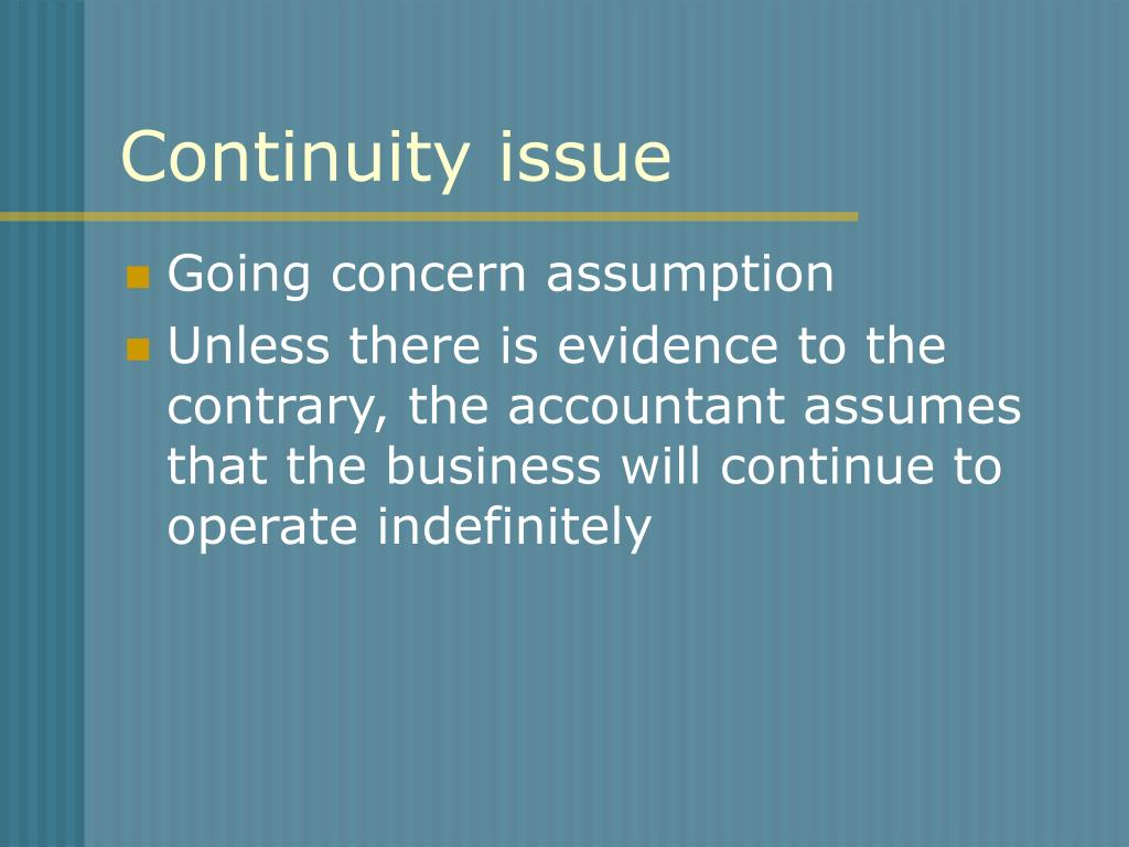 Continuity issue