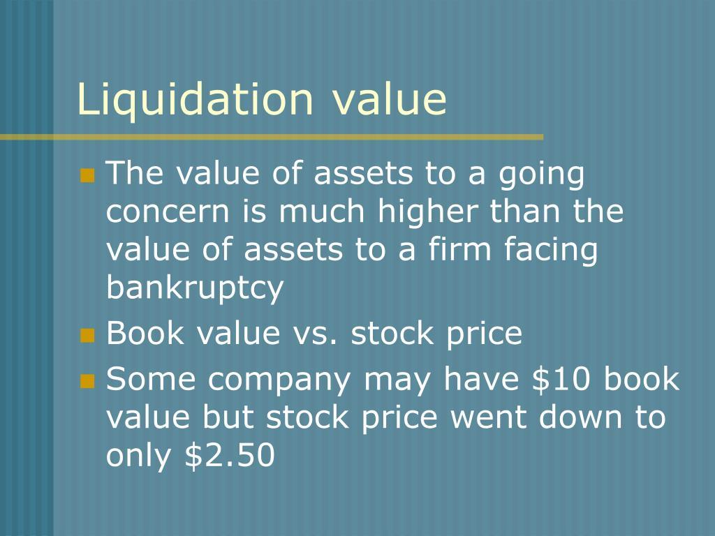 Liquidation value