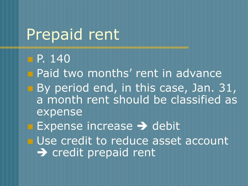 Prepaid rent