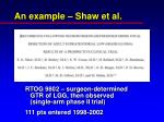an example shaw et al