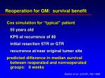 reoperation for gm survival benefit
