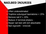 nailbed injuries