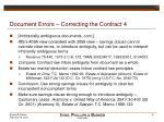 document errors correcting the contract 4