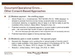 document operational errors other consent based approaches17