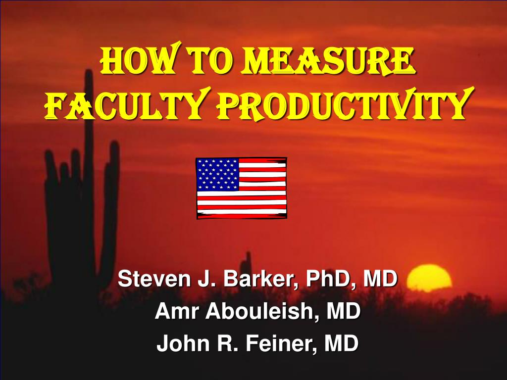 how to measure faculty productivity l.