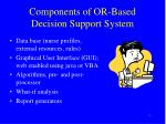components of or based decision support system