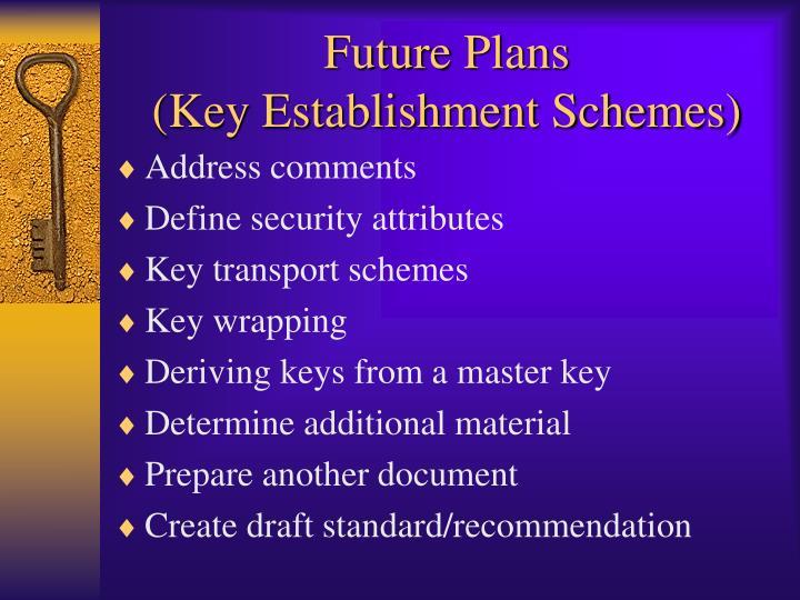 future plans key establishment schemes n.