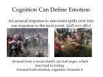 cognition can define emotion
