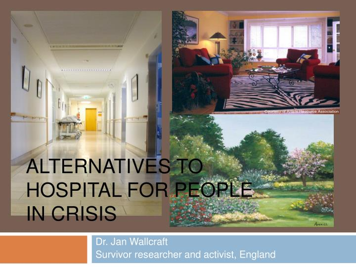 alternatives to hospital for people in crisis